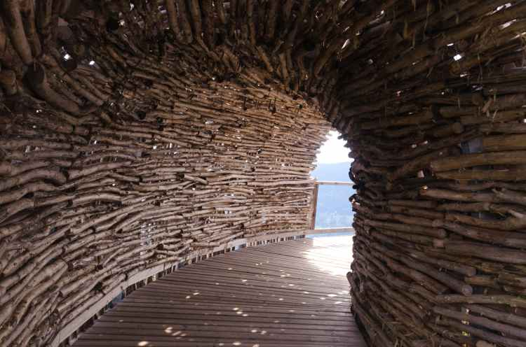 architecture attraction bamboo construction